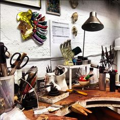 We paid a little visit to Rachel Boston today at her studio in central London for a sneak peek of her new collection.