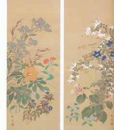 鈴木其一 Kiitsu Suzuki『秋草図』