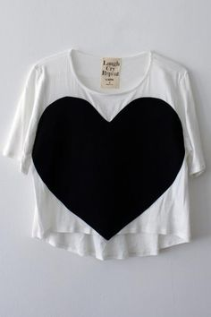 laugh cry repeat heart tee in white