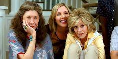 Grace and Frankie - Frankie (Lily Tomlin), Brianna (June Diane Raphael) and Grace (Jane Fonda)