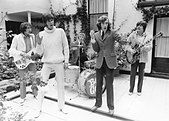 BEE GEES in May 1968 from left: Maurice Gibb, Barry Gibb, Colin Peterson, Robin Gibb, Vince Melouney. Photo Tony - Stock Photo