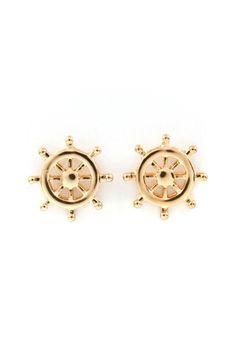 The helm boat earrings