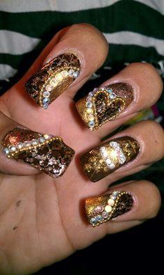 Fall Nail Art Nails Beauty Hair Bling Finger Design Nailart