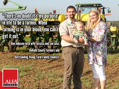 2017 Outstanding Young Farm Family Finalists - the Johnsons of DeKalb County Young Farmers, My Purpose In Life, Farm Family, Dekalb County, Create Awareness, Alabama, The Selection, Leadership