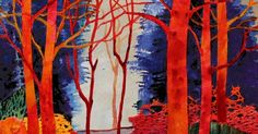 "Mixed Media Abstract Tree Landscape Painting, ""Fantasia 2"" by Colorado Mixed Media Artist Carol Nelson Fine Art http://carolnelsonfineart.blogspot.com/2017/05/mixed-media-abstract-tree-landscape.html?utm_content=bufferc1c96&utm_medium=social&utm_source=pinterest.com&utm_campaign=buffer"