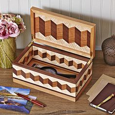 Woodworking Jigs Zigzag Box Woodworking Plan from WOOD Magazine Woodworking Projects For Kids, Learn Woodworking, Popular Woodworking, Woodworking Furniture, Woodworking Crafts, Woodworking Plans, Woodworking Jointer, Woodworking Machinery, Woodworking Workshop