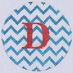"""Kate Dickerson Needlepoint - The Alphabet Collection - fits Lee 3"""" leather products"""