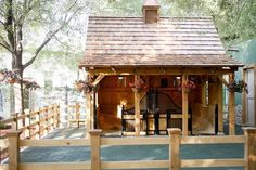 Adorable little two stall horse stable, this would be perfect for the start of our farm.