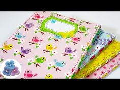 Encuadernacion: Mini Cuadernos Decorados 80 paginas Tutorial DIY Regalos…