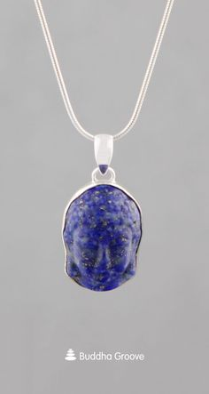 This Buddha face pendant is made of Lapis Lazuli stone, a gemstone of truth, self-discovery, and spiritual exploration. Lapis is set in a sterling silver base. Buddha Jewelry, Boho Jewelry, Buddha Face, Lapis Lazuli, Discovery, Spiritual, How Are You Feeling, Calm, Pendants