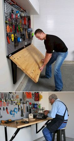 Diy projects your garage needs diy folding bench work table do it 45 best garage workbrench that needs to be had while working solutioingenieria Gallery