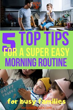 These top tips will help you create an easy morning routine for your busy family. Family Rules, Family Goals, Family Life, Parenting Humor, Parenting Hacks, Becoming Mom, Potty Training Boys, Quotes About Motherhood, Family Organizer