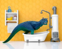 I Teach My Daughter Photography By Creating Domestic Dinosaur Scenes | Bored Panda