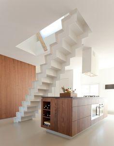 Mueble madera - House Singel by laura alvarez architecture Layout Design, Kitchen Interior, Kitchen Design, Interior Architecture, Interior Design, Beautiful Houses Interior, Restaurant, White Wood, Modern Design