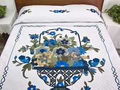 Blue Daisy Quilt -- magnificent smartly made Amish Quilts from Lancaster (hs5331)