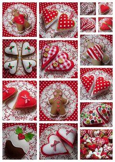 Rojo y blanco de la Navidad: