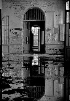 Criminally Insane Asylum | Flooded floor in Italian asylum for criminally insane