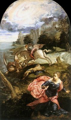 'Saint George and the Dragon' (c. 1555), Jacopo Tintoretto, National Gallery, London