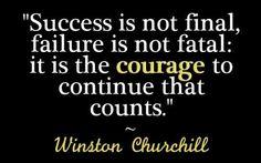 ...words of encouragement