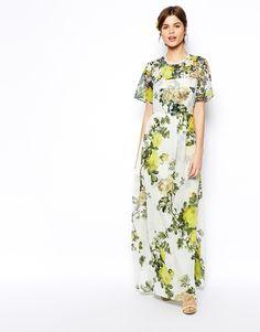 ASOS SALON Tshirt Maxi Dress - Multi