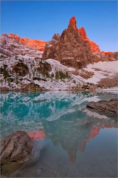Lake Sorapis~ Dolomites,Veneto,  Italy