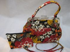 Vintage Vera Bradley Snap Closure Crossbody Handbag with Matching Coin Purse by CLASSYBAG on Etsy