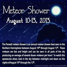 Meteor shower,