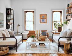a cozy modern country style living room   room of the week on coco kelley