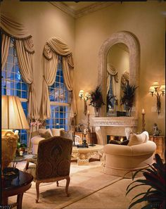 Luxury Living Space/Arches, windows etc., are always beautiful architectural elements !
