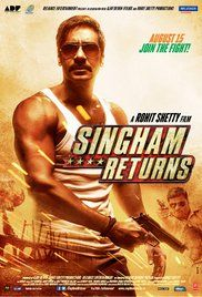Singham Returns Movie Watch Online Free. Owing to the wrongdoings affiliated with evils similar to black money, an honest but ferocious police officer returns as the Deputy Commissioner of Police with the prospect of wiping out injustice.