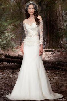 jenny lee wedding dresses spring 2013 long sleece gown style