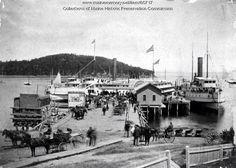 Steamboat landing in Bar Harbor - 1885