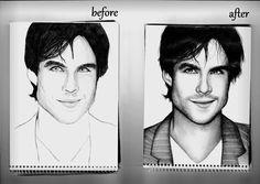 Portré before/ after-vampirnaplok
