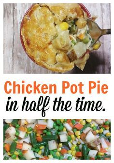 This Instant Pot Chicken Pot Pie is a perfect weeknight meal that everyone will love and is read in half the time! Instant Pot Chicken recipes are our favorites!