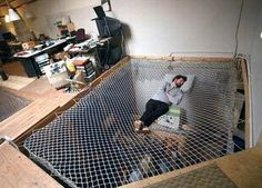 hammock floor! brilliant. who cares if my downstairs neighbors would see me napping - i would be napping!