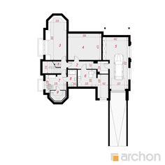 Projekt domu Rezydencja w Myślenicach 2(P) - ARCHON+ Duplex House Design, Unique House Design, Civil Engineering Construction, Model One, Luxury Homes Dream Houses, Home Design Plans, House Plans, Floor Plans, How To Plan