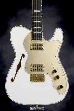 ob Vintage White Fender Eric Johnson Thinline Stratocaster Semi-hollow Guitar Harmonious Colors