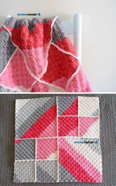 Bernat Pop Corner to Corner Baby Blanket Crochet Tutorial