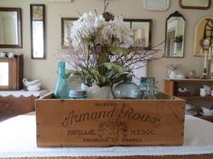 French Country Style from the Foot of the Rockies: French Wine Crate Find