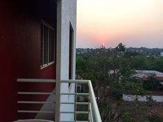Ugadi sunset @Balaji Apartment Hubli India