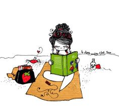 :)  This is what I want to do this summer... read on the beach (minus the crab trying to pinch me, lol).
