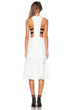NBD NBD Split Sides Midi Dress in Ivory | REVOLVE