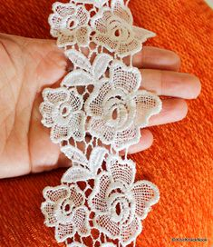 This listing is for a lovely White Rose Flower Embroidery Cotton Floral Lace  Trim. Width fc0564879da2