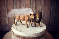 Lion and lionesskingqueenweddingcake by MorganTheCreator on Etsy