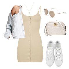 """""""Untitled #5155"""" by lilaclynn ❤ liked on Polyvore featuring Forever 21, Yves Saint Laurent, Gucci, YSL, forever21, saintlaurent, gucci and yvessaintlaurent"""