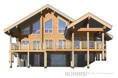 CH3-550 - IKIHIRSI® Log Houses, Sims 4 Build, Finland, Cabin, House Styles, Building, Model, Inspiration, Beautiful