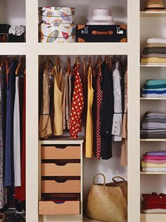 Not sure how to categorize clothes in your #closet?  Our expert says by season, then type, then color. #organizing