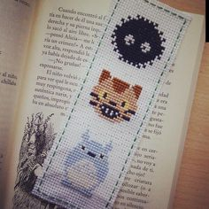 Totoro bookmark cross stitch.