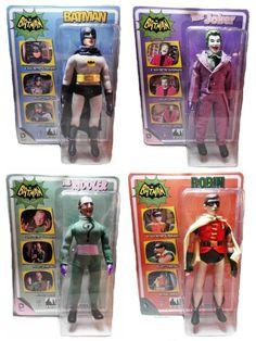 Classic Batman Set of 4 Retro Style Action Figures ROBIN Riddler JOKER New MINT!