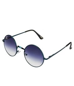 Clark N' Palmer Blue Gradient Blue Frame Round Sunglasses Round Sunglasses, Mirrored Sunglasses, Shades, Frame, Blue, Stuff To Buy, Round Frame Sunglasses, Frames, A Frame